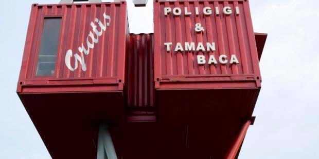 """""""Amin"""" Perpustakaan keren dari kontainer"""
