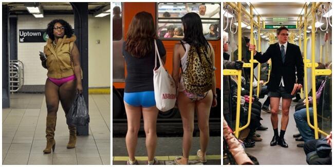 Anehnya Hari Tanpa Celana di Kereta Ala New York