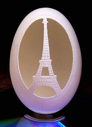 (Keren), Cangkang Telur Jadi Hasil Seni nan Indah