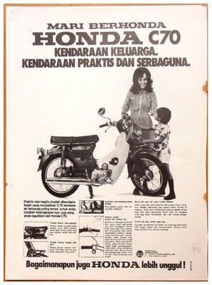 MOTOR ANTIK HONDA C70.