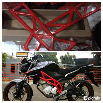 ***Tubular Frame Vixion, New Vxion, Byson, New Megapro Kirim Seluruh Indonesia***