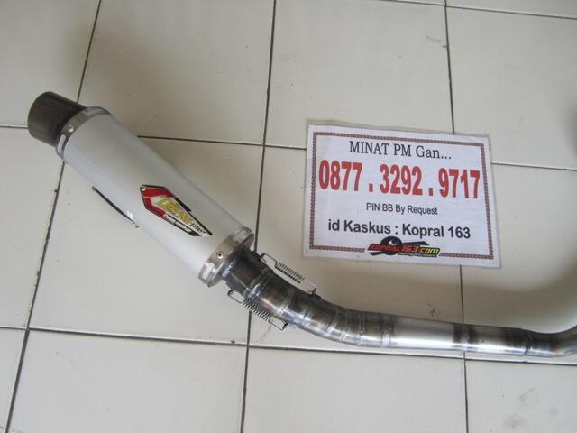 Knalpot Creampie Yogyakarta untuk Tiger Vixion dan Scorpio