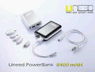 POWERBANK UNEED 4800 / 8400 MAH JAKARTA !