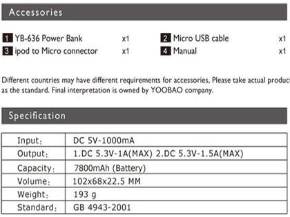 [ORIGINAL]Powerbank YOO BAO Garansi Resmi 6 bulan | All Capacity Available |