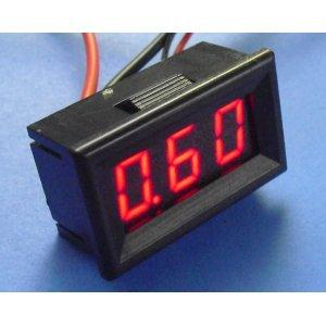 Digital MiNi AmpereMeter DC 0.A-10A RED LED Panel