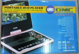 "Dvd portable gmc 808x (lcd 9"" ,bisa tv + game + game pad 2 pcs) 625.000,,gmc 808z 14"