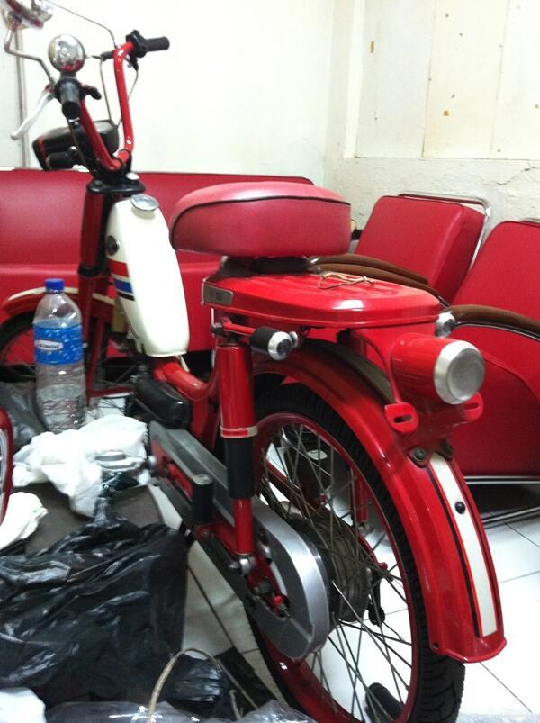 [Bandung] Honda PF50 merah collector item