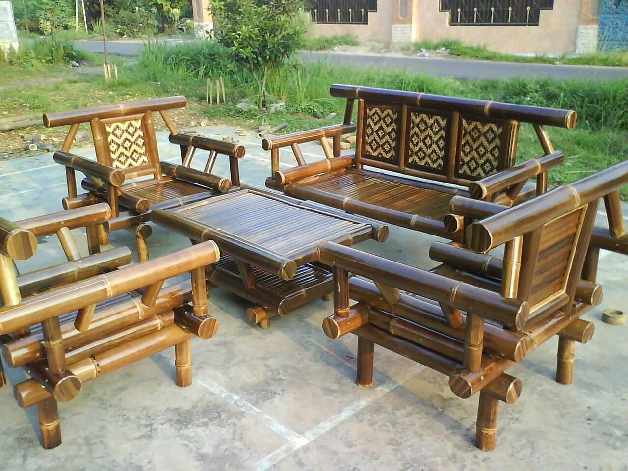 57+ Gambar Meja Kursi Dari Bambu Terbaik