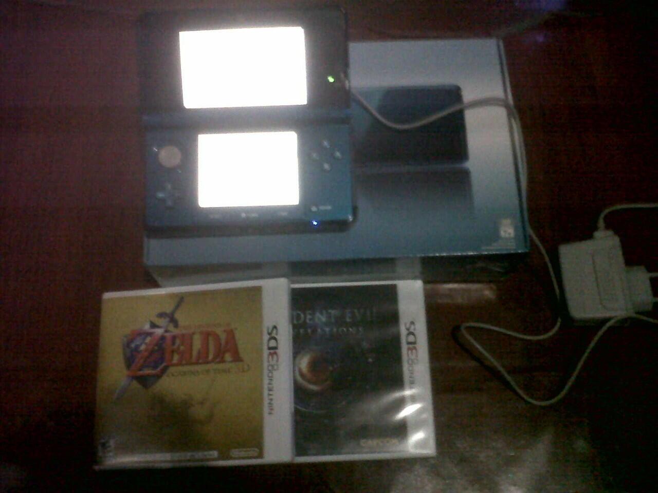 Sell : Nintendo 3DS Aqua Blue Like New Gaaannn!!!!