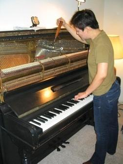 Stem tuning repair moving piano