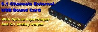 5.1 External USB Souncard - Bisa Untuk bikin Home Theater Gan!!