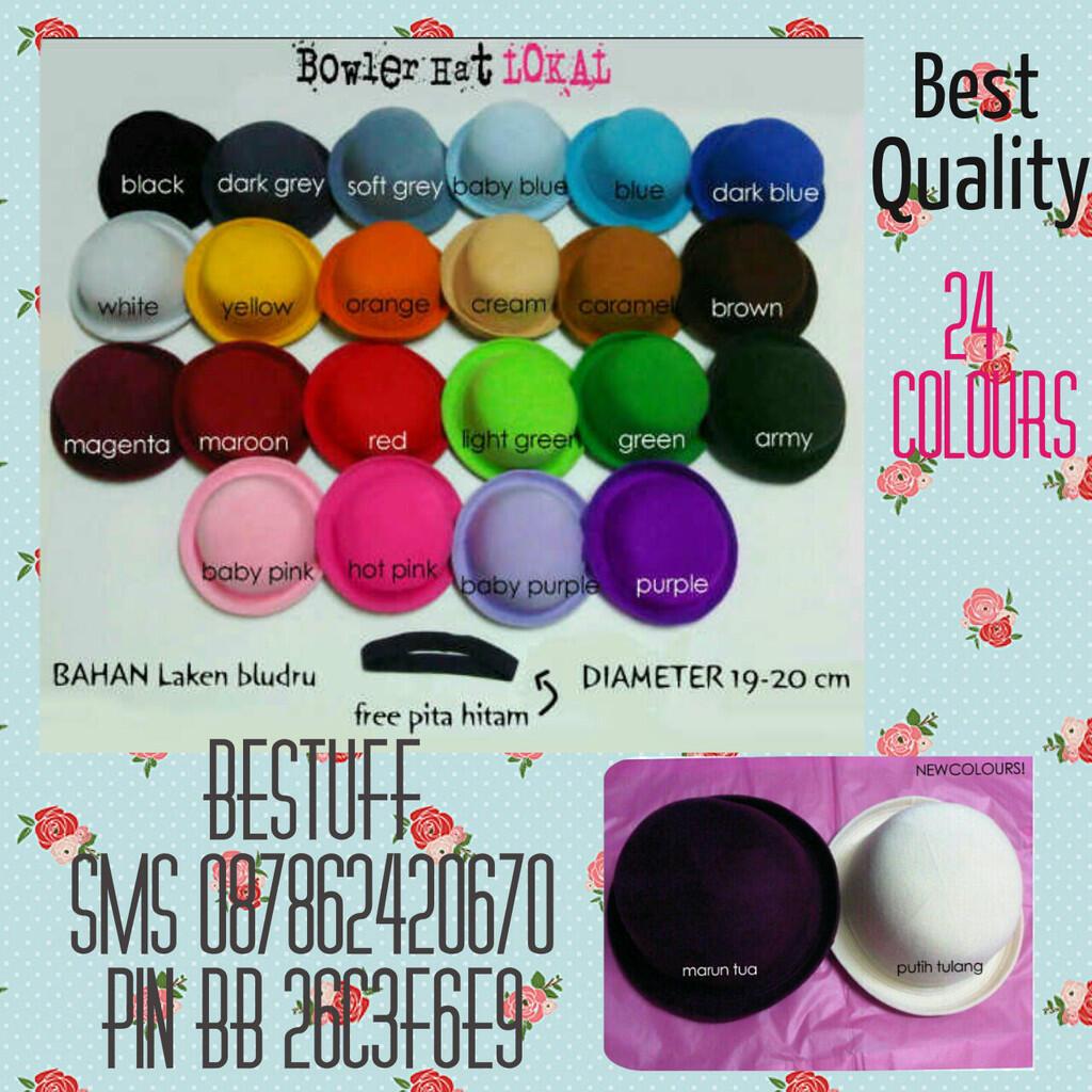 Terjual Supplier Bowler Hat Topi Caplin Murah Meriah Best Quality Lapak Reseller Bludru Are Welcome