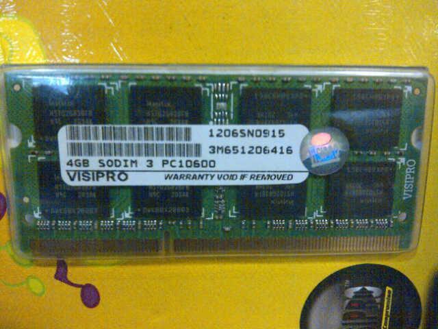 SODIM DDR3 4 GB VISIPRO PC10600 BARU HARGA MIRING GAAN...GARANSI !!!!