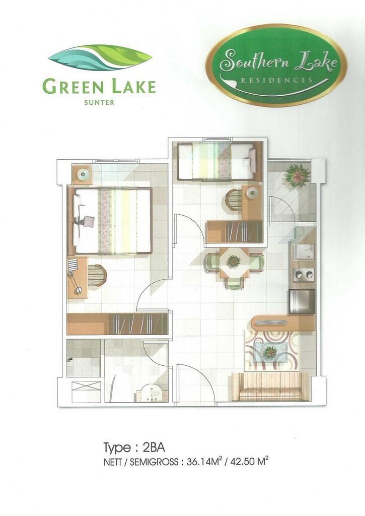 JUAL CPT Apartment Green Lake Sunter, Tipe Studio khusus buat Investasi