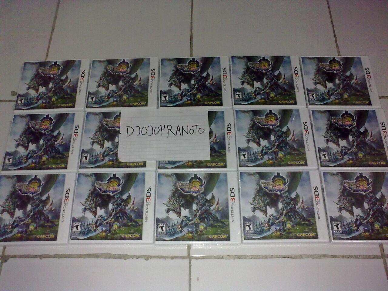 3DS Donkey Kong,S.Megami Soul Hacker,Lego City,Monster Hunter,Luigi Mansion,F Emblem