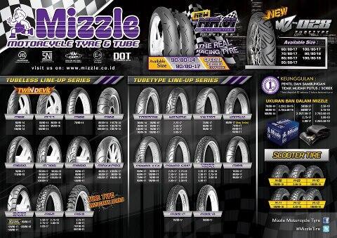 BAN MIZZLE 80 90 14 TUBELES