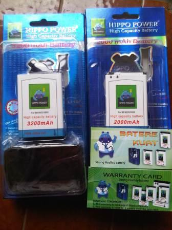 battery/batre/batrai/baterai Hippo high capacity/double power blackberry ...