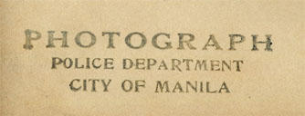 *PHOTOGRAPH* police department city of manila
