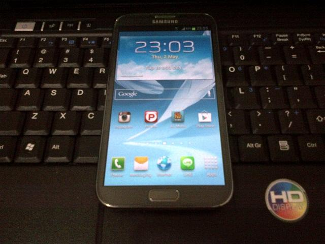 Samsung Galaxy Note II / 2 N7100 baru 2 minggu