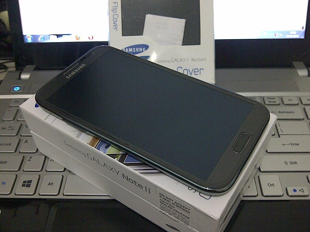 (JUAL) Samsung Galaxy Note II N7100 Titanium Grey GARANSI RESMI - Semarang
