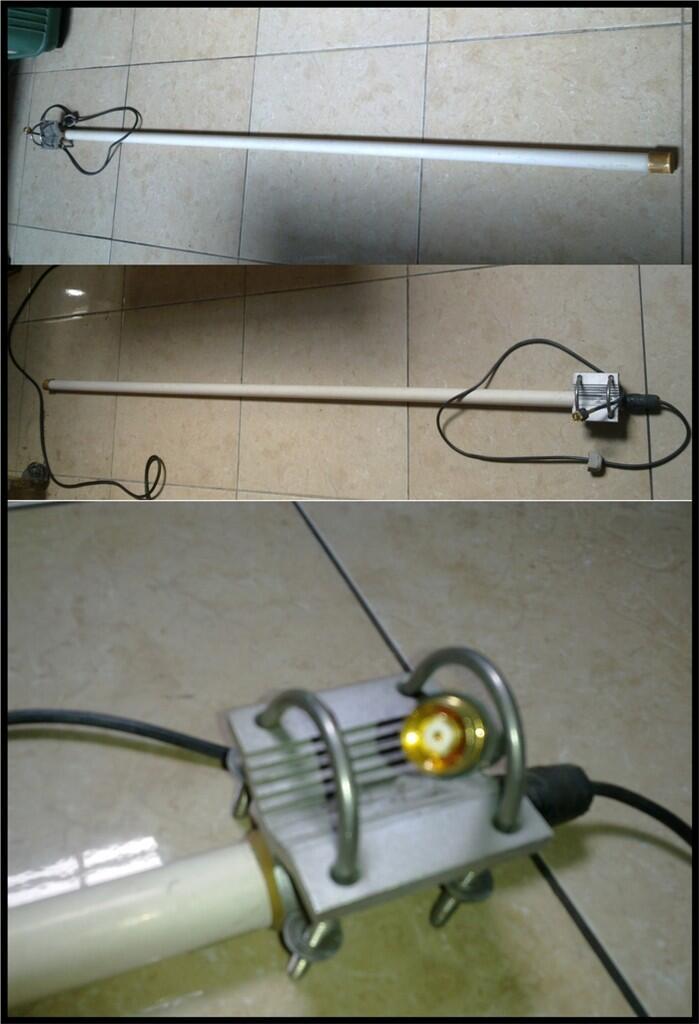 Antena Omni 15dBi (2.4GHz) dan Grid Kenbotong 24dBi