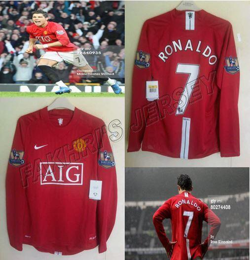 7e35ce768 WTS Jersey Original MU Manchester United Home Away 07 08 Third 08 09 CR7