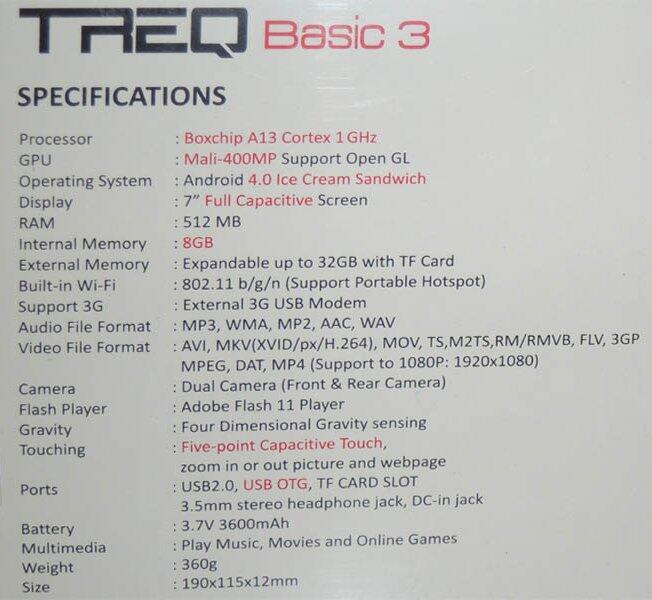 [WTS] Tablet Murah Harga dibawah 1 Juta - TREQ Basic 2 dan TREQ Basic 3