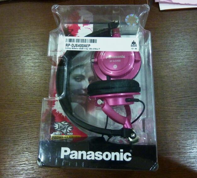 Stereo Headphones PANASONIC RP-DJs400A--BNIB, 100% Segel, Harga Kaskus!