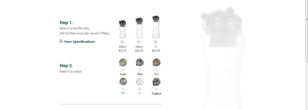 Botol air OKO bahkan bisa mengubah Coca Cola menjadi air minum biasa