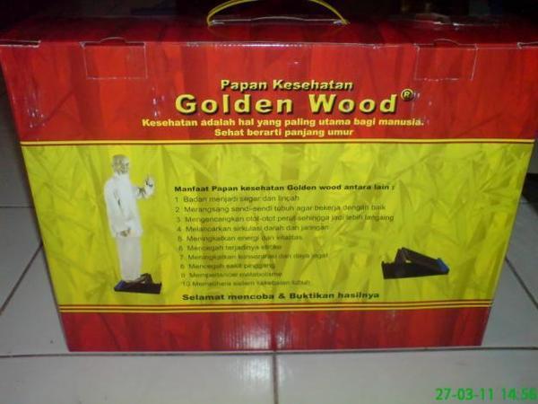 ALAT TERAPI KESEHATAN : PAPAN GOLDEN WOOD
