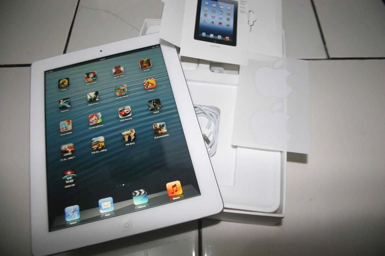 Dijual Ipad3 4G Cellular Wifi, 16 GB mulus lengkap ipad3