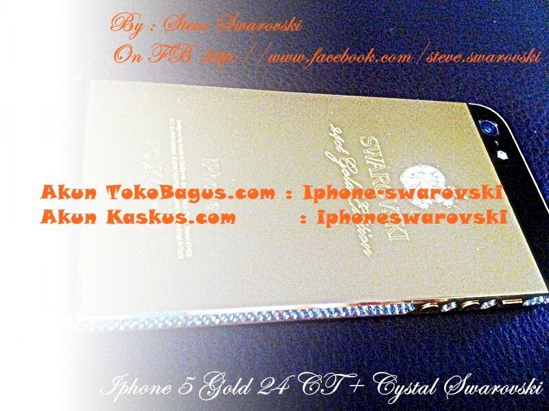i-Phone 5 Black Gold 24Karat + Berlian Swarovski Crystal