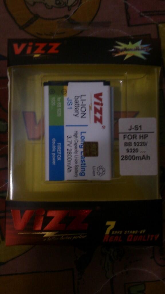 Baterai BB blackberry kapasitas besar Vizz Murah Cekidot (Surabaya)