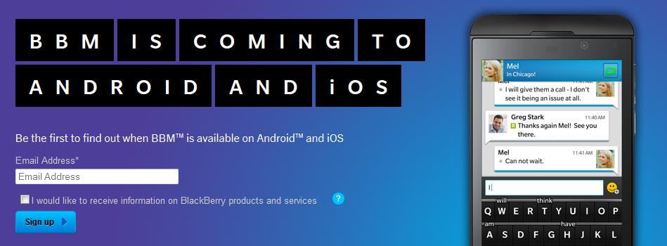 Ingin Jadi yang Pertama Menjajal BBM di Android atau iOS?