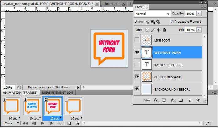 Bikin Animasi Avatar Bergerak Dengan Photoshop [TUTORIAL]