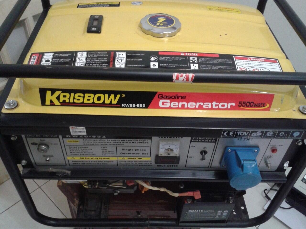 Jual CEPAT !!! GENSET KRISBOW 5500 Watt Kw26-852