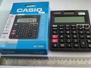 casio mj-120d 150steps check 12digits