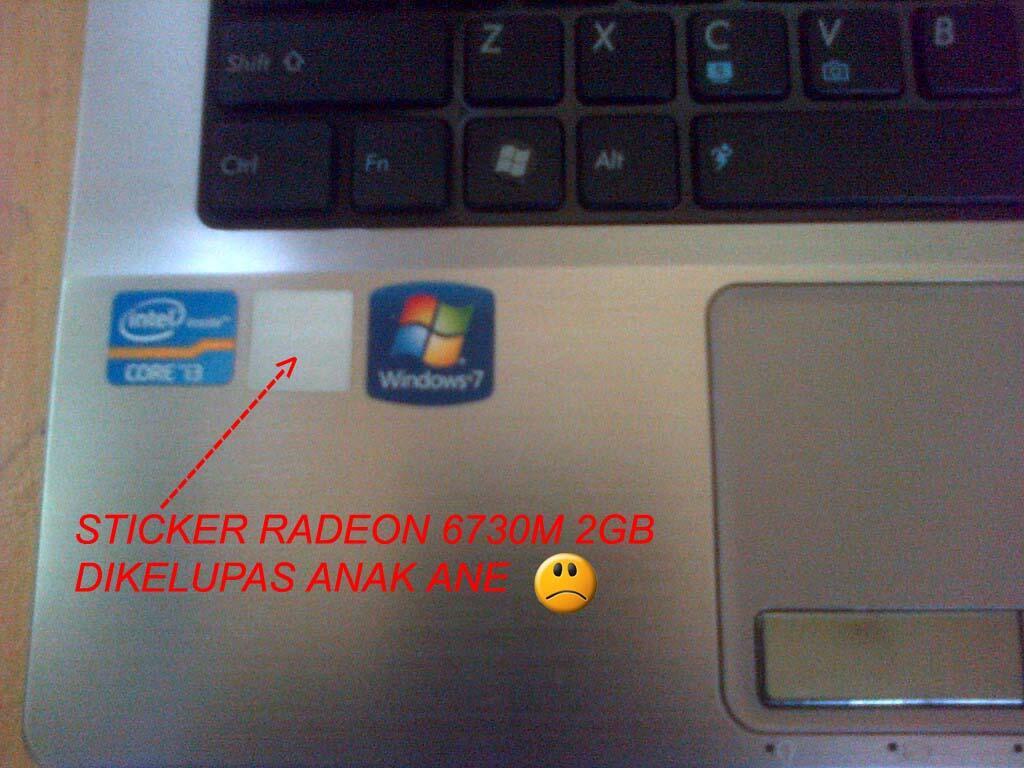 Asus K43SA Core i3 RAM 4GB HDD 750 Radeon 2GB PALEMBANG
