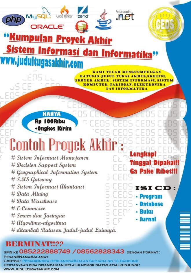 Contoh Poster Skripsi Sistem Informasi Ide Judul Skripsi Universitas