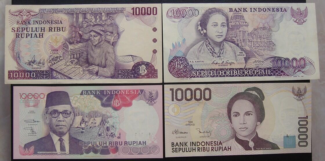 [uang kuno surabaya]uang kertas u/mahar mas kimpoi/koleksi pch1,2,5,10,25,50..100rb!!
