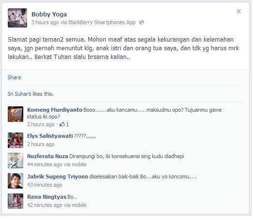 Bobby Yoga Cahyadi (36) ketua panitia locstockfest 2 jogja yang bunuh diri (?)