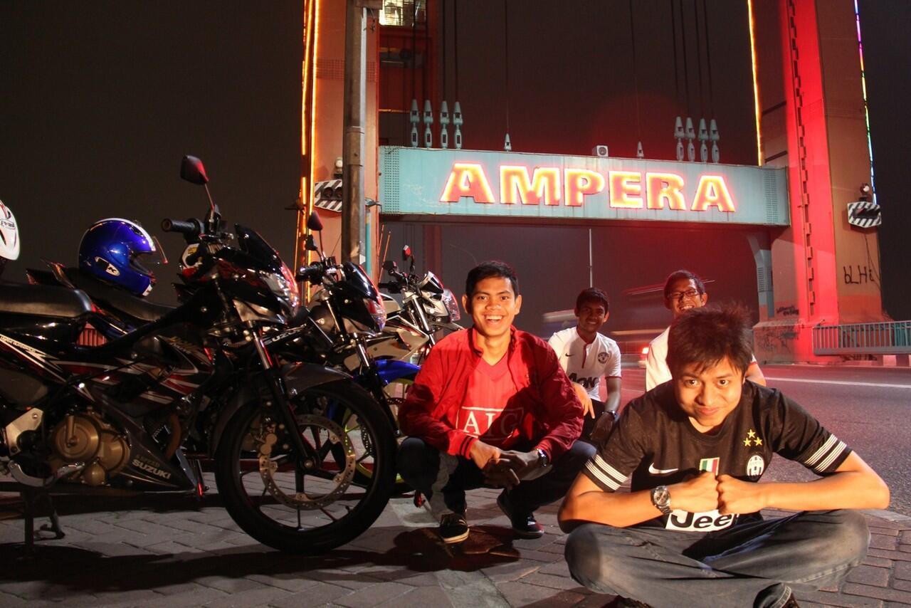 Terjual WTS Satria FU 150 Tahun 2012 Bulan Juni Hitam Abu Abu striping Merah