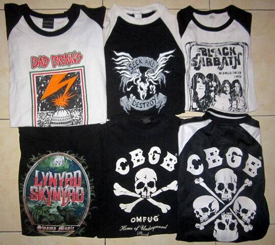 BAND MERCH METALLICA,BAD BRAINS,CBGB,MASTODON MOTORHEAD,SUICIDAL TENDENCIES,WEEZER