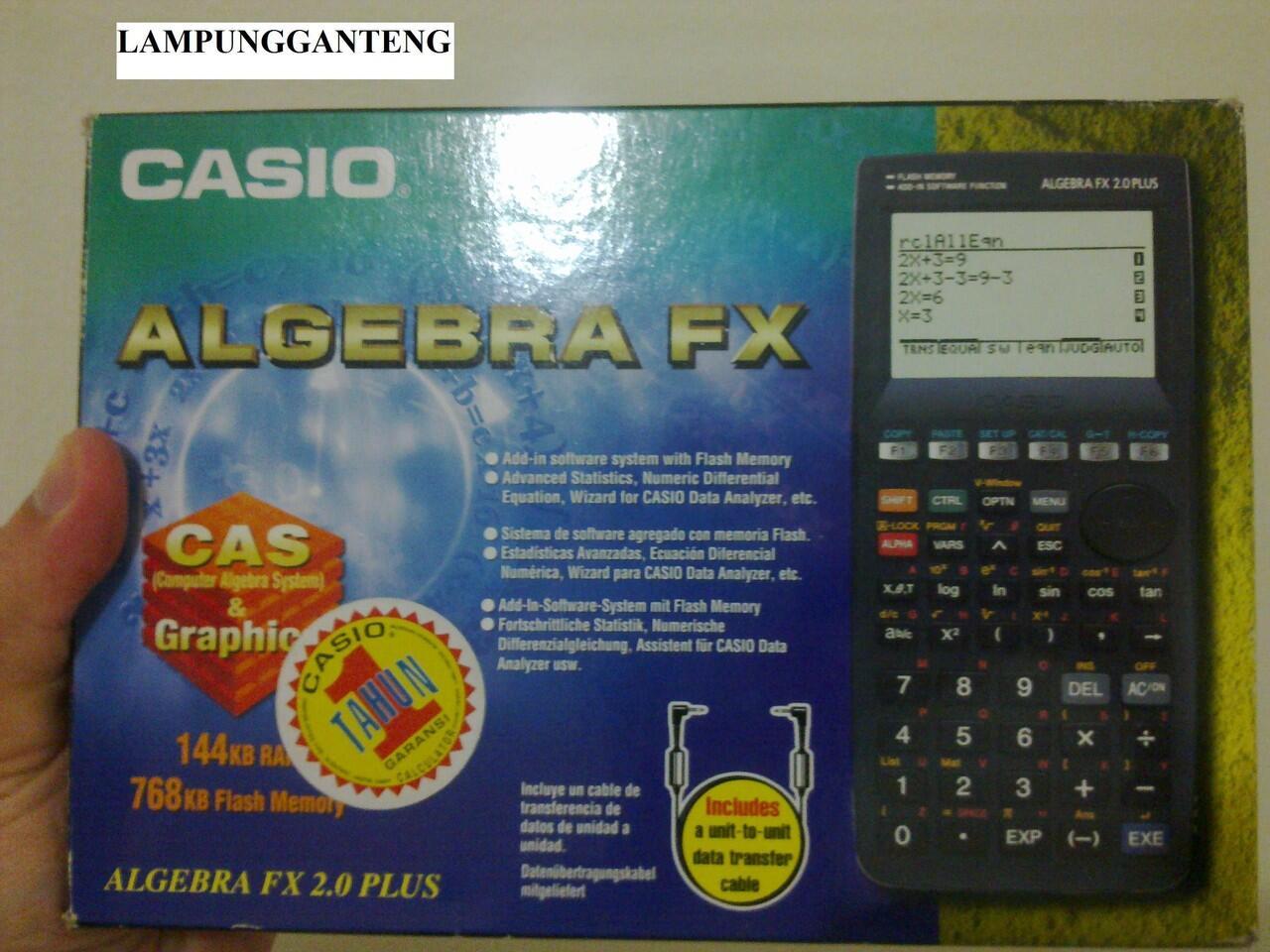 JUAL KALKULATOR SCIENTIFIC CASIO ALGEBRA FX 2.0 PLUS (2 ND)