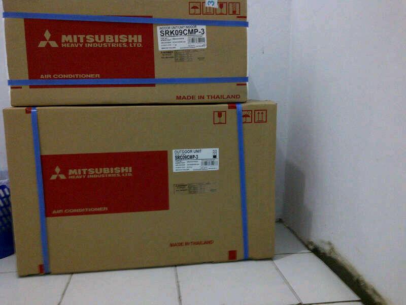 Jualin AC hadiah (Mitsubishi SRK09CMP-3)