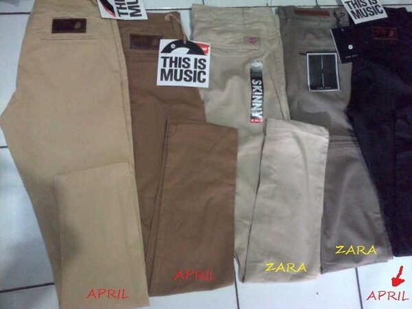 Celana Chino [Zara Man,Kick Denim,PSD,Dickies,April,DC] kwalitas yahut COD Bandung