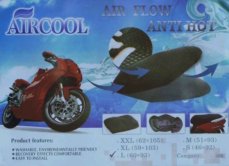 Distributor Cover/sarung Jok Motor Anti Panas Aircool (asli100%)
