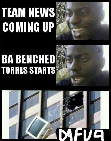 chealsea starting XI without demba ba