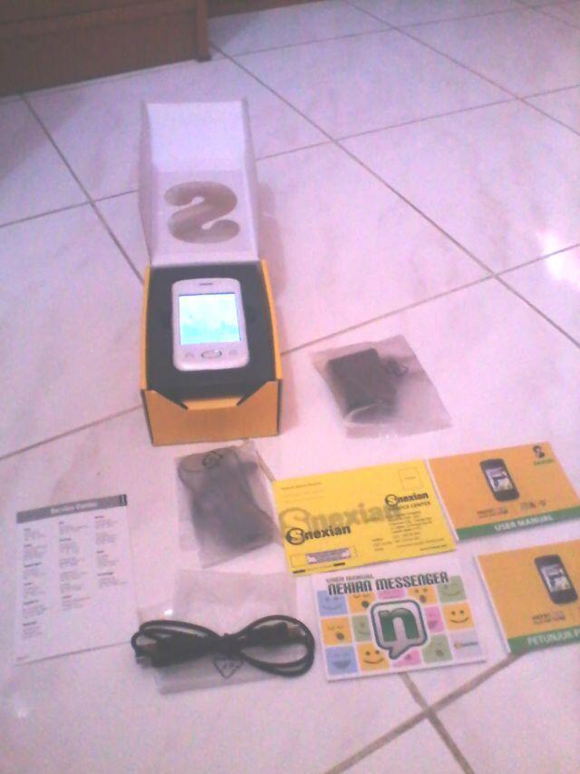 [JUAL] HP Nexian M5701 Dual GSM On+TV, Putih Mulus Elegant, Baterai awet (second)