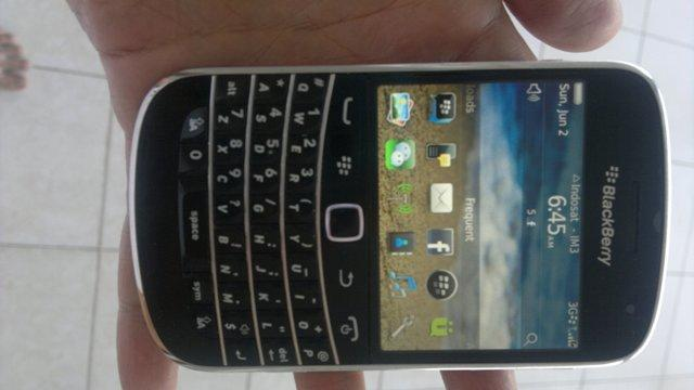 Blackberry Bold 9900 Dakota black batangan muluss 98% like new